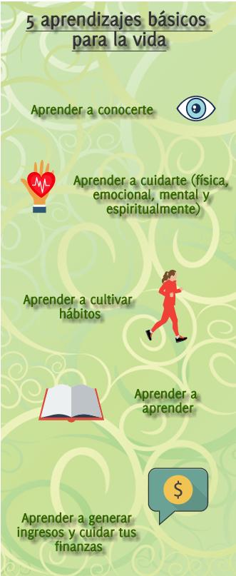 Cinco aprendizajes básicos para llevar una vida feliz